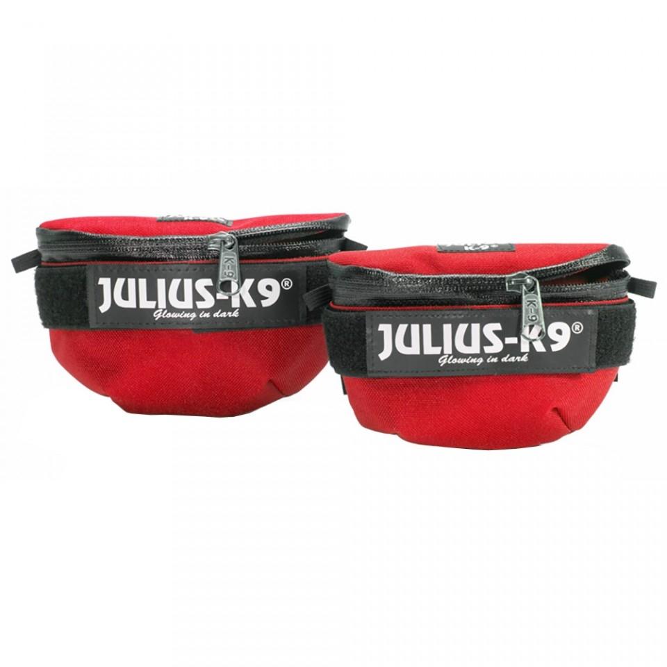 Borsetute pentru hamurile Julius K9, Mini-4, Rosu imagine