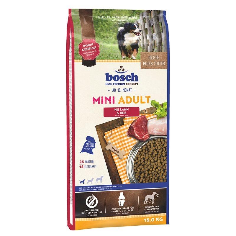 Bosch Adult Mini Lamb & Rice 15kg imagine