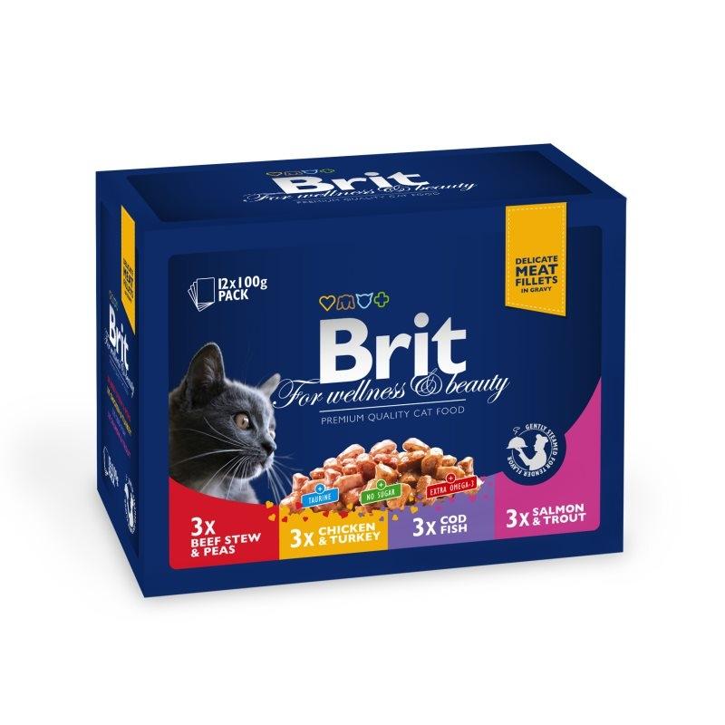 Brit Premium Cat plic Family Variety, 12 Plicuri x 100 gr imagine