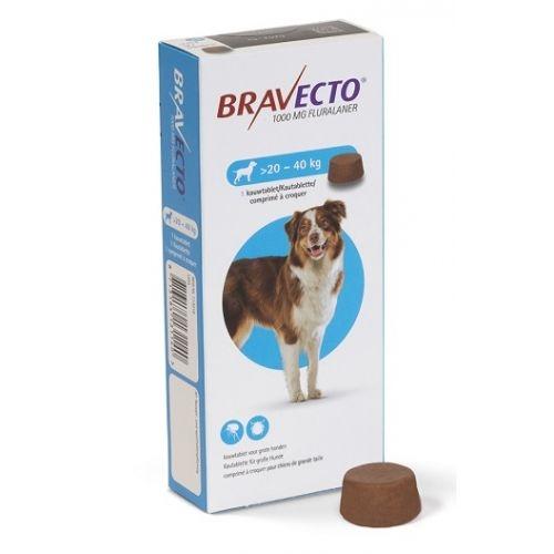 Bravecto (20-40 kg) 1 tbl x 1000 mg imagine
