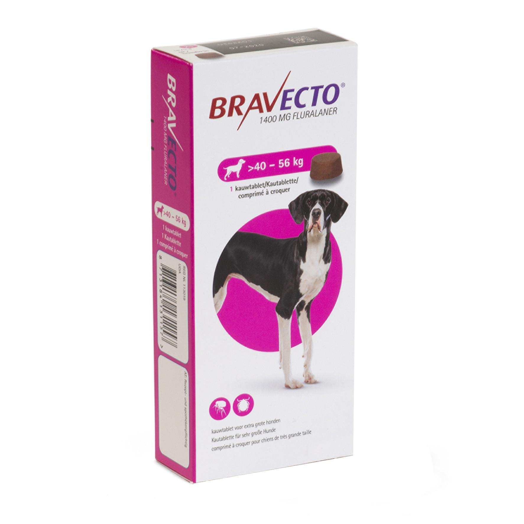 Bravecto (40-56 Kg) 1 Tbl X 1400 Mg