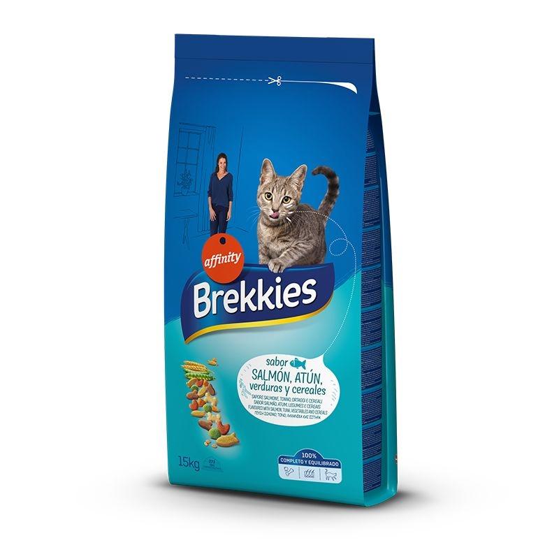 Brekkies Excel Cat Somon, 15 kg imagine