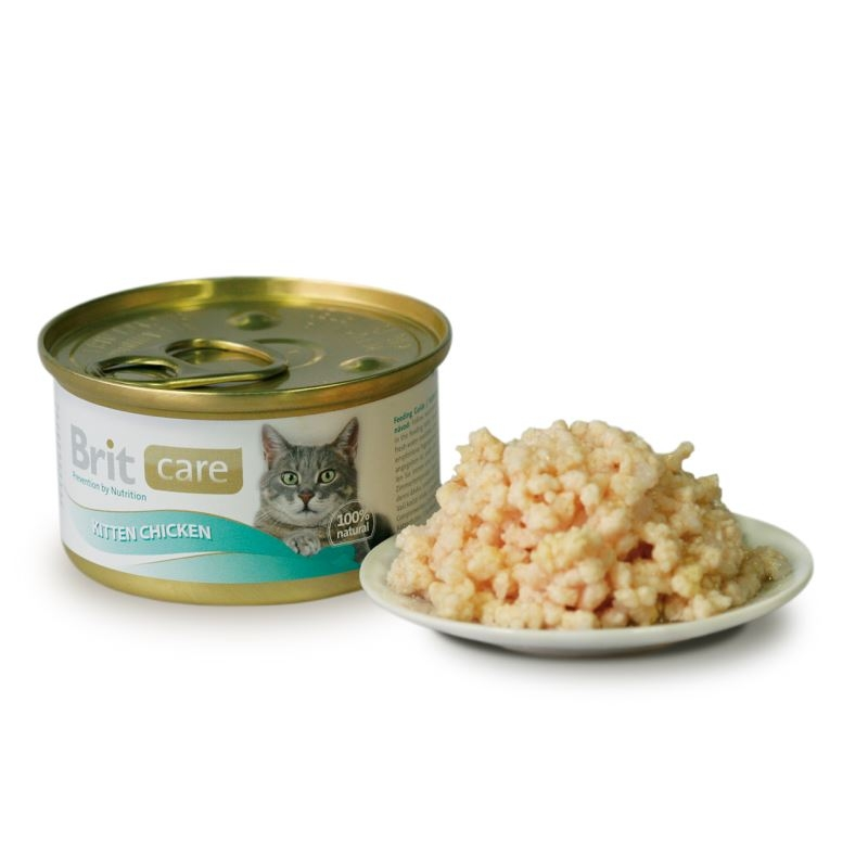 Brit Care Cat Kitten Chicken, conserva, 80 g imagine