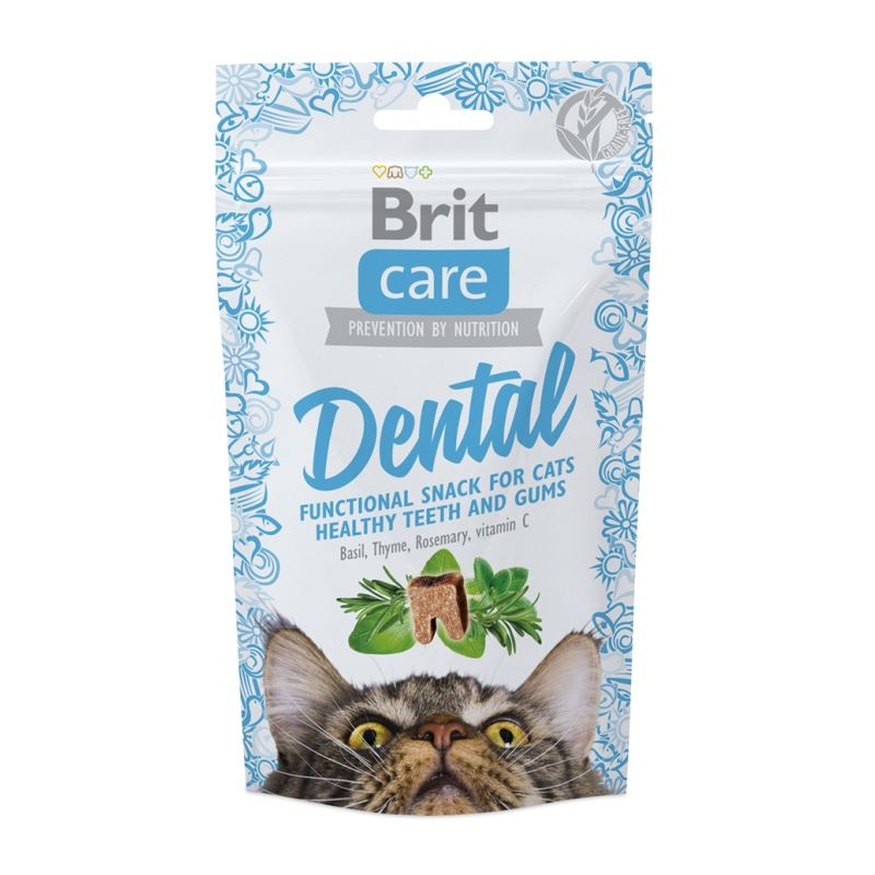 Brit Care Cat Snack Dental, 50 G