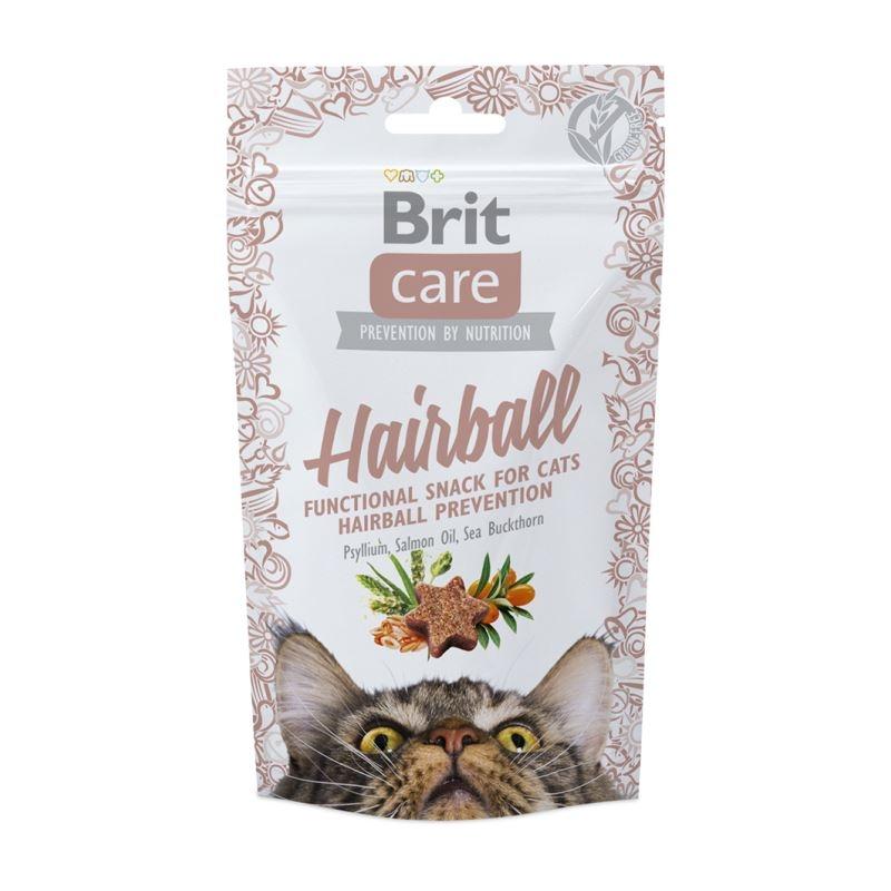 Brit Care Cat Snack Hairball, 50 g imagine