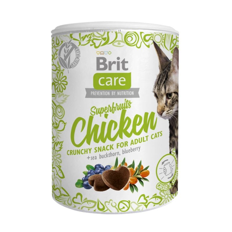 Brit Care Cat Snack Superfruits Chicken, 100 g imagine