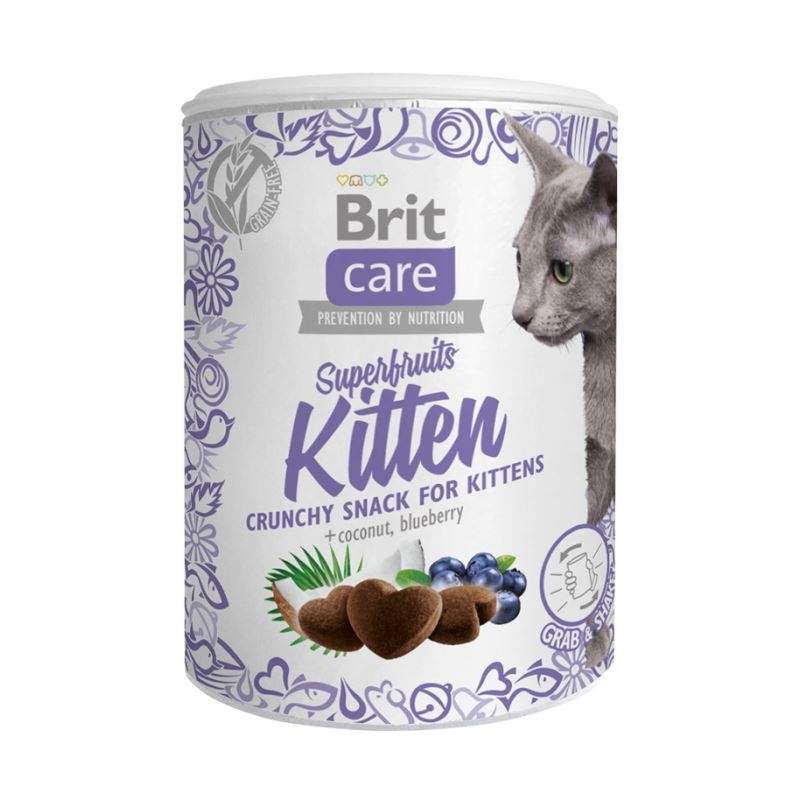 Brit Care Cat Snack Superfruits Kitten, 100 g imagine