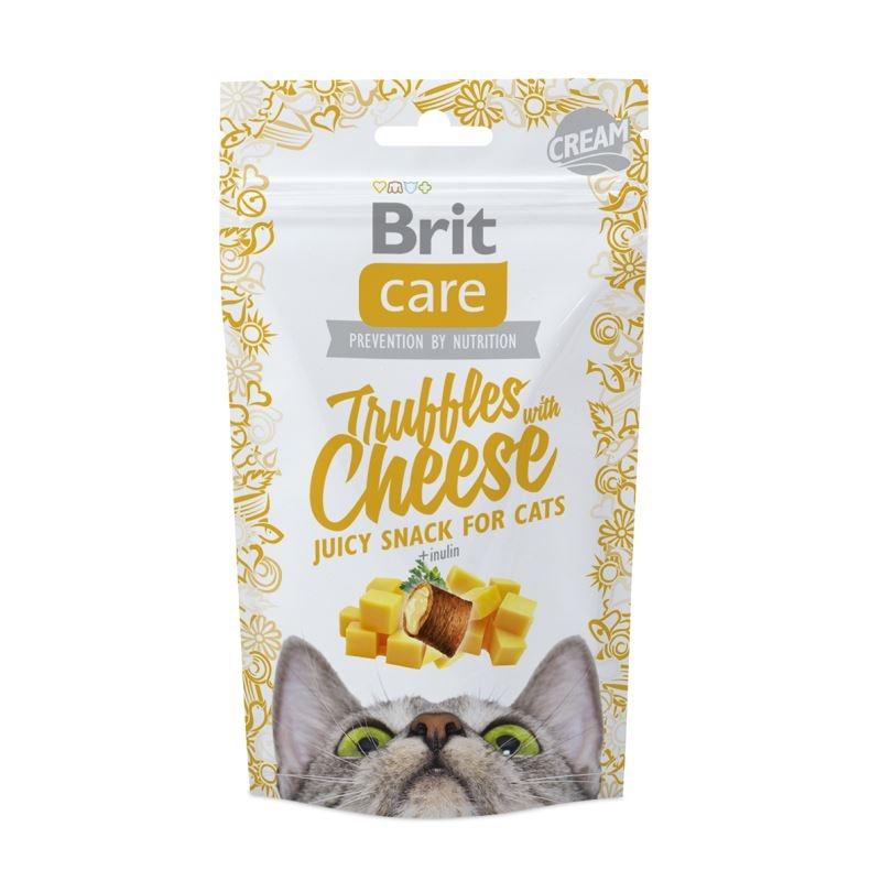 Brit Care Cat Snack Truffles Cheese, 50 g imagine