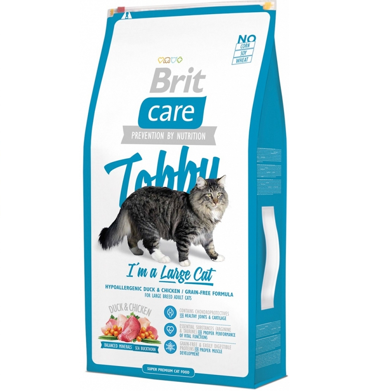 Brit Care Cat Tobby I'm a Large Cat, 2 kg imagine