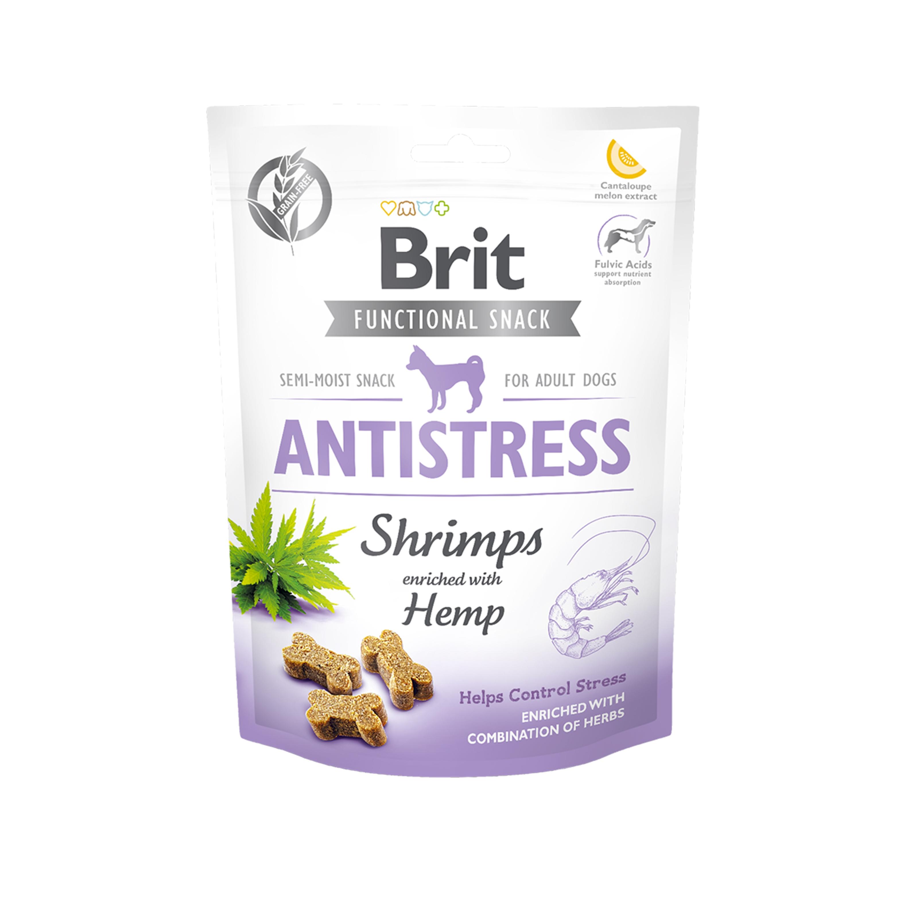 Brit Care Dog Snack Antistress Shrimps, 150 g imagine