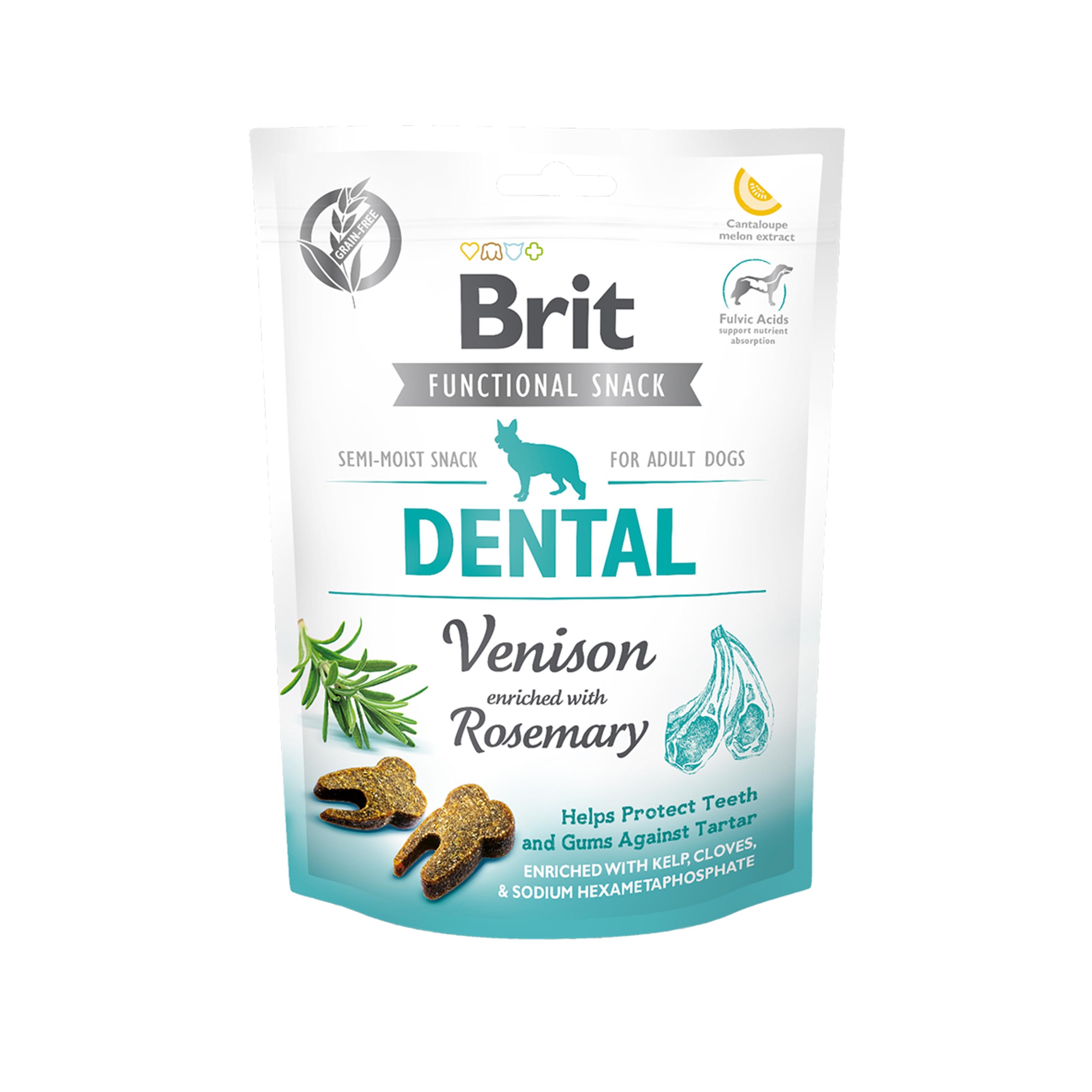 Brit Care Dog Snack Dental Venison, 150 g imagine