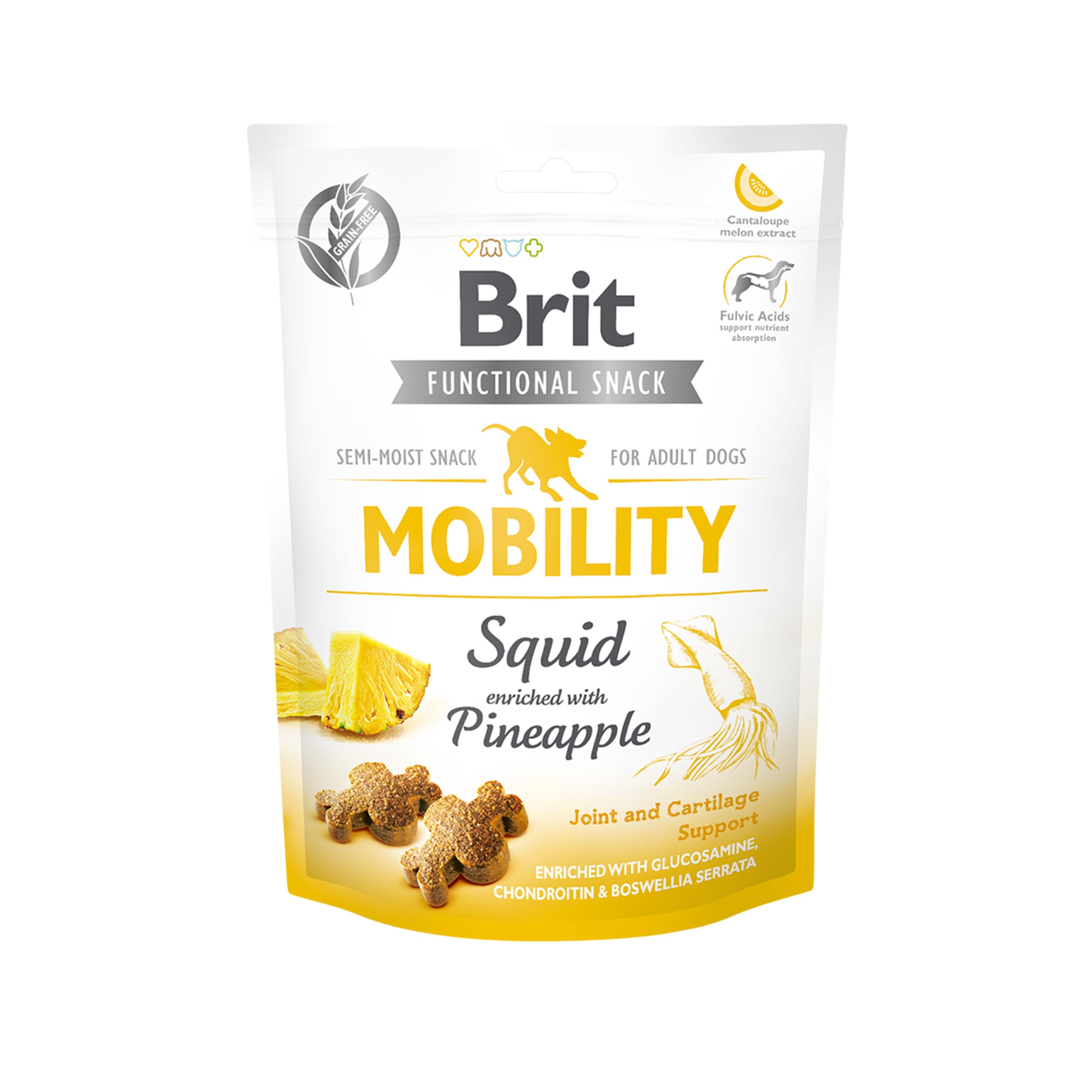 Brit Care Dog Snack Mobility Squid, 150 G imagine