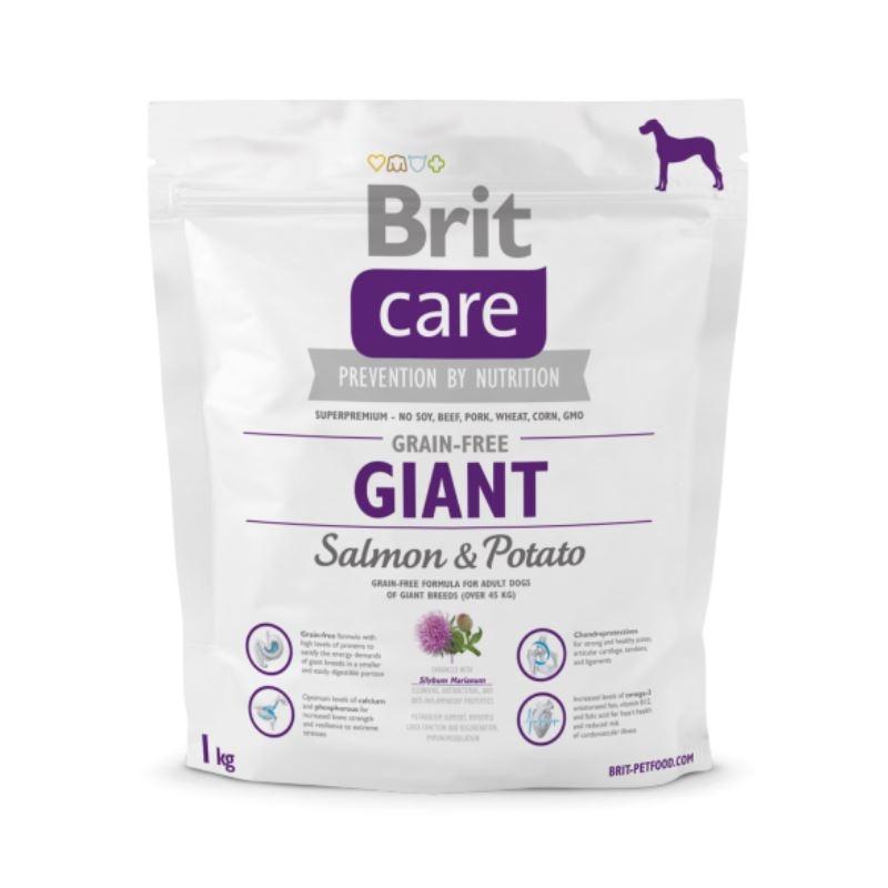 Brit Care Grain-free Giant Salmon and Potato, 1 kg imagine