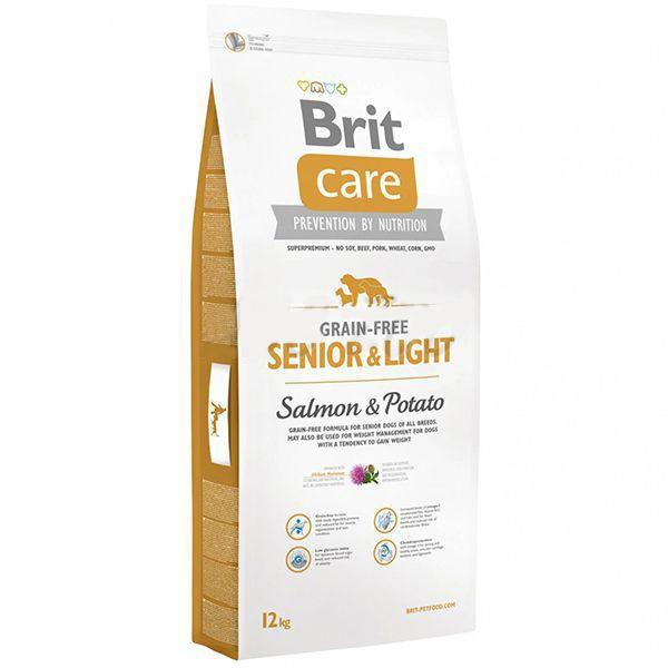 Brit Care Grain-Free Senior & Light Salmon & Potato, 12 kg imagine