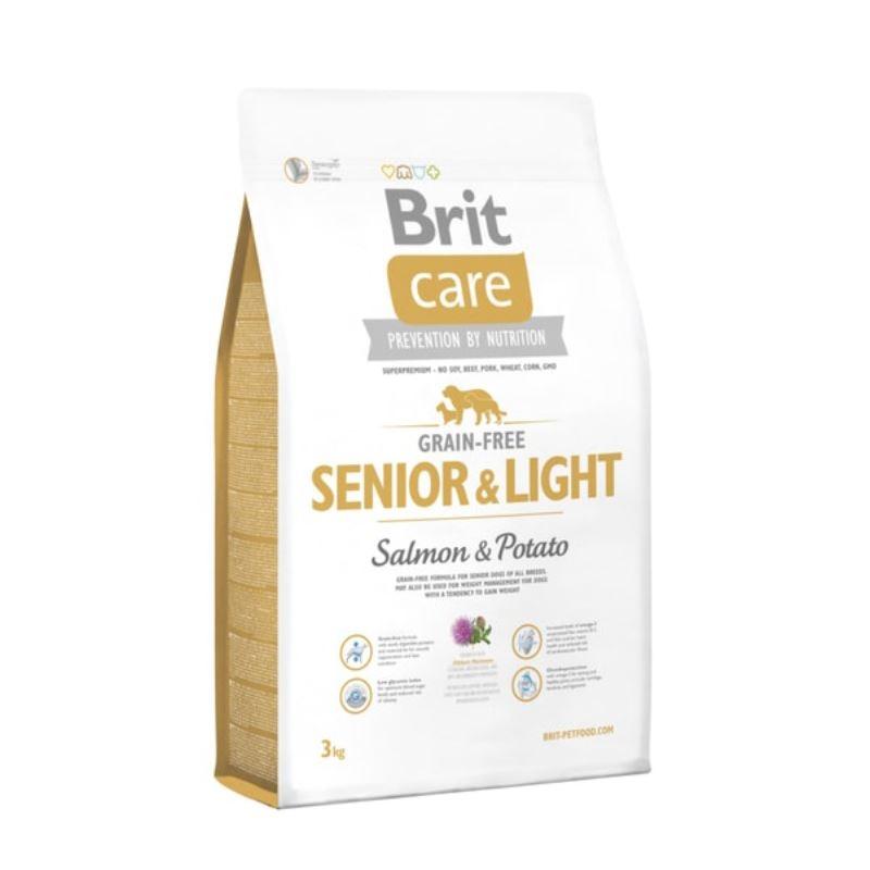 Brit Care Grain-free Senior Salmon and Potato, 3 kg imagine