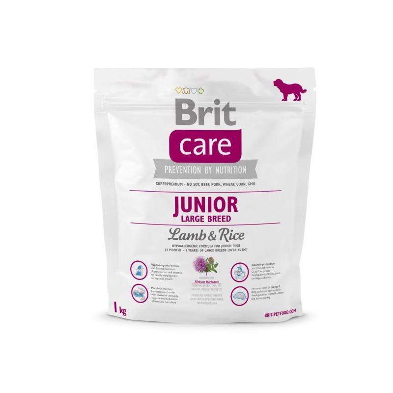 Brit Care Junior Large Breed Lamb & Rice, 1 kg imagine