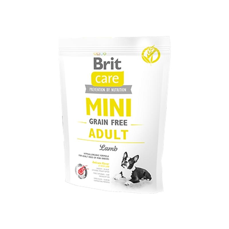 Brit Care Mini Grain Free Adult Lamb, 400 g imagine