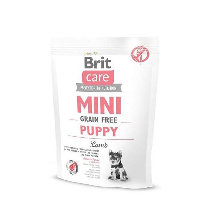 Brit Care Mini Grain Free Puppy Lamb, 400 g imagine