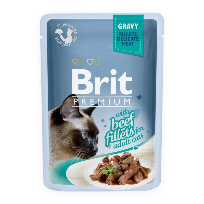 Brit Cat Delicate Beef in Gravy, 85 g imagine