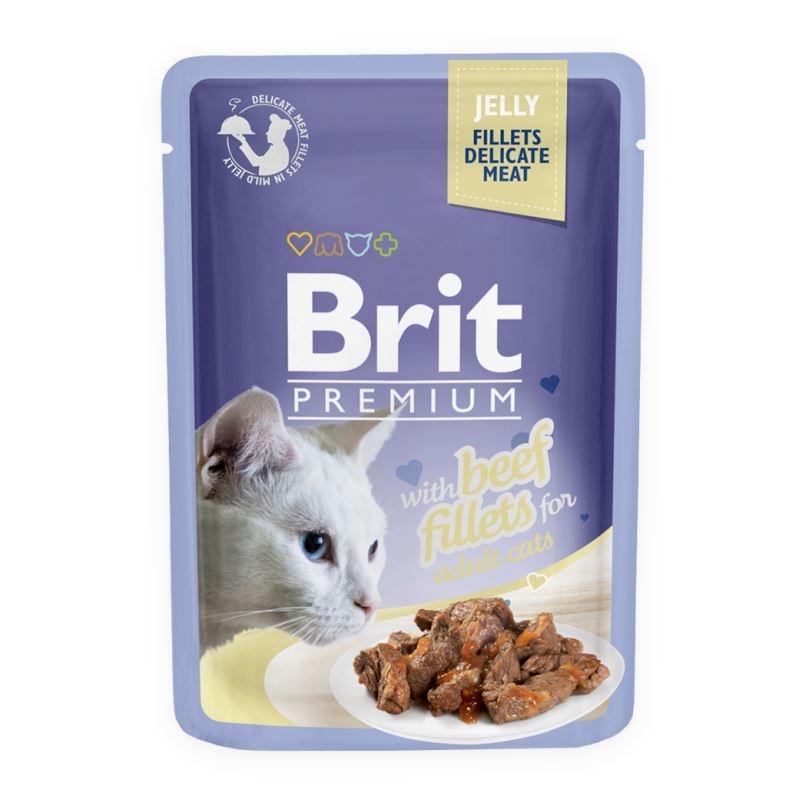 Brit Cat Delicate Beef in Jelly, 85 imagine