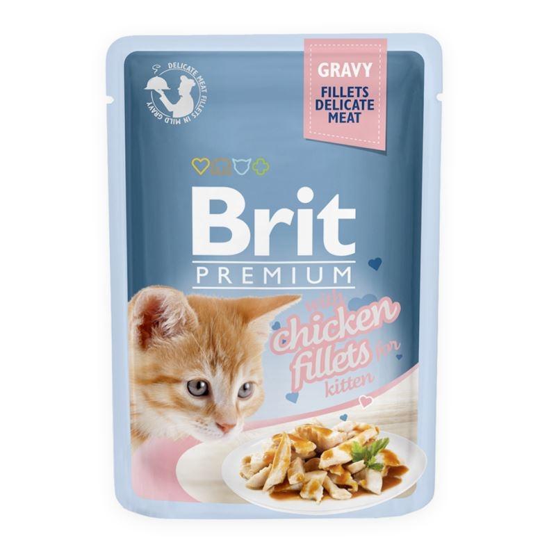 Brit Cat Delicate Chicken in Gravy for Kitten, 85 imagine