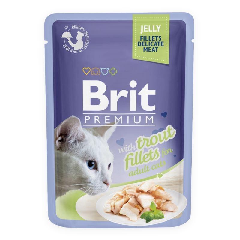 Brit Cat Delicate Trout in Jelly, 85 imagine