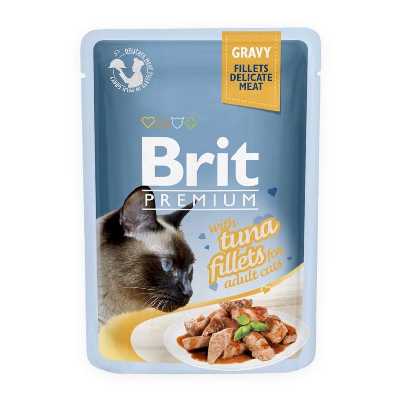 Brit Cat Delicate Tuna in Gravy, 85 g imagine