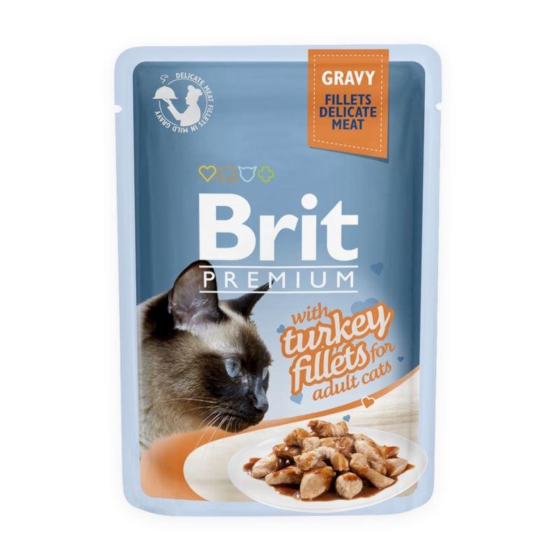 Brit Cat Delicate Turkey in Gravy, 85 g imagine