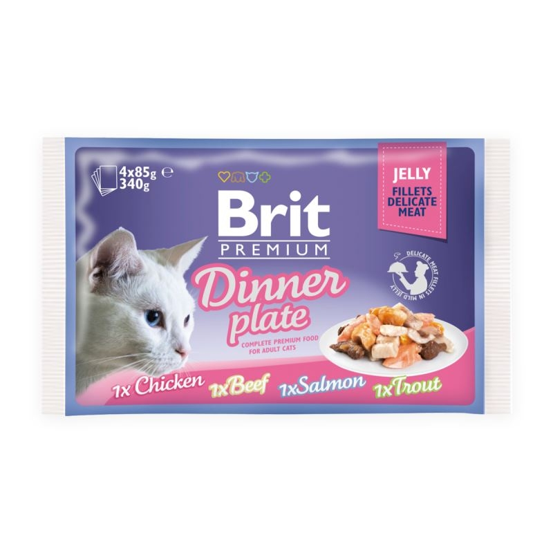 Brit Cat MPK Delicate Dinner plate in Jelly, 4 x 85 g imagine