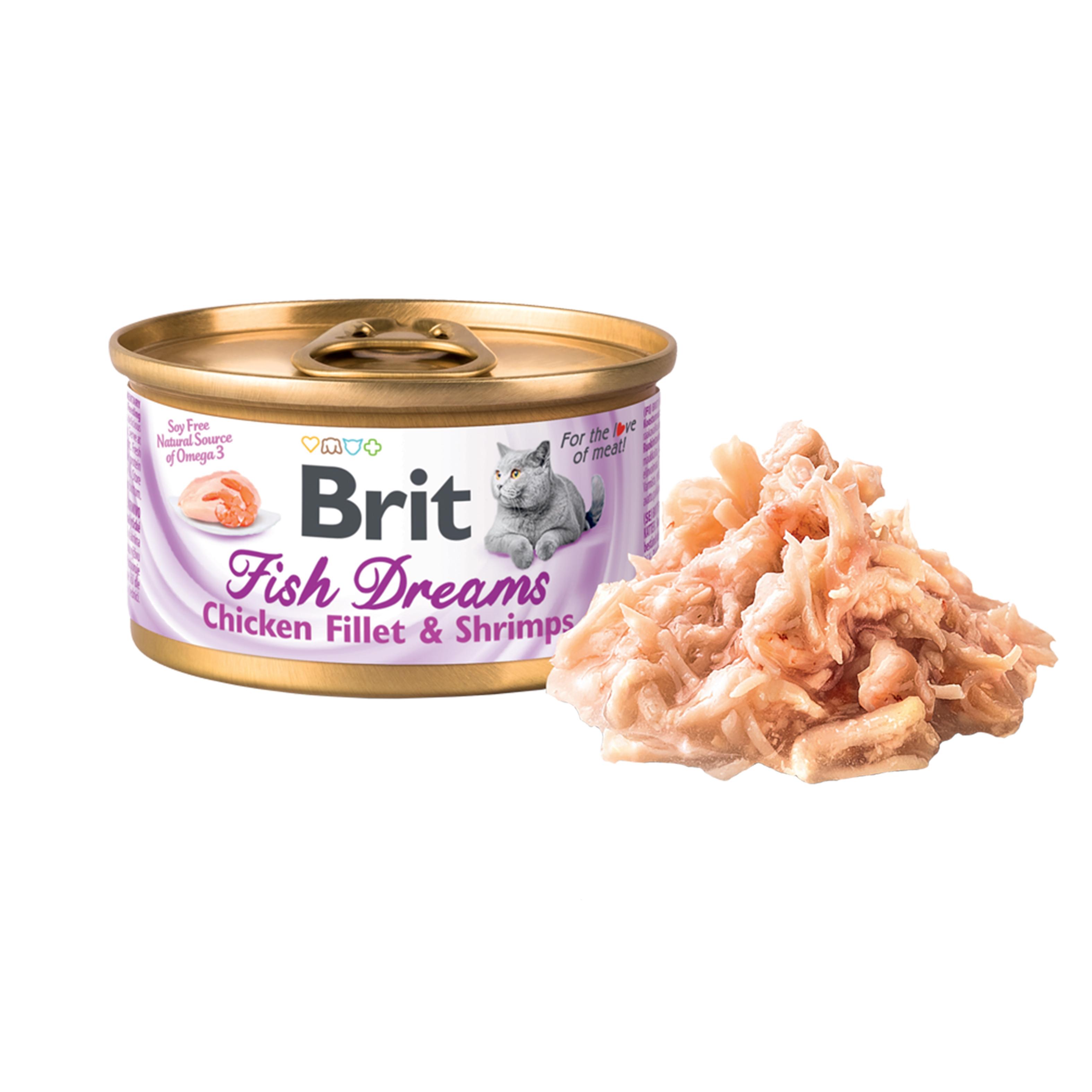 Brit Fish Dreams Chicken Fillet and Shrimps, 80 g imagine