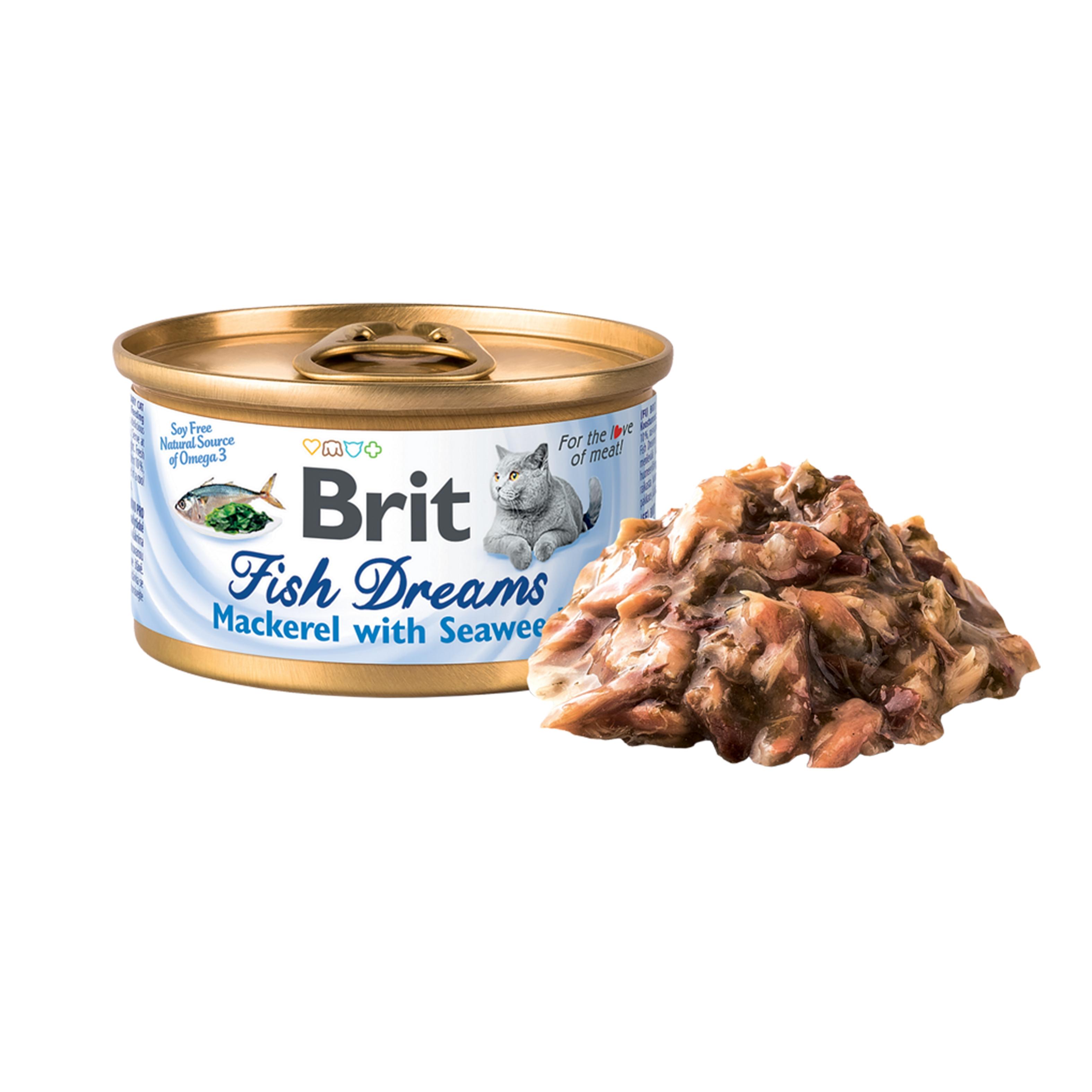 Brit Fish Dreams Mackerel and Seaweed, 80 g imagine