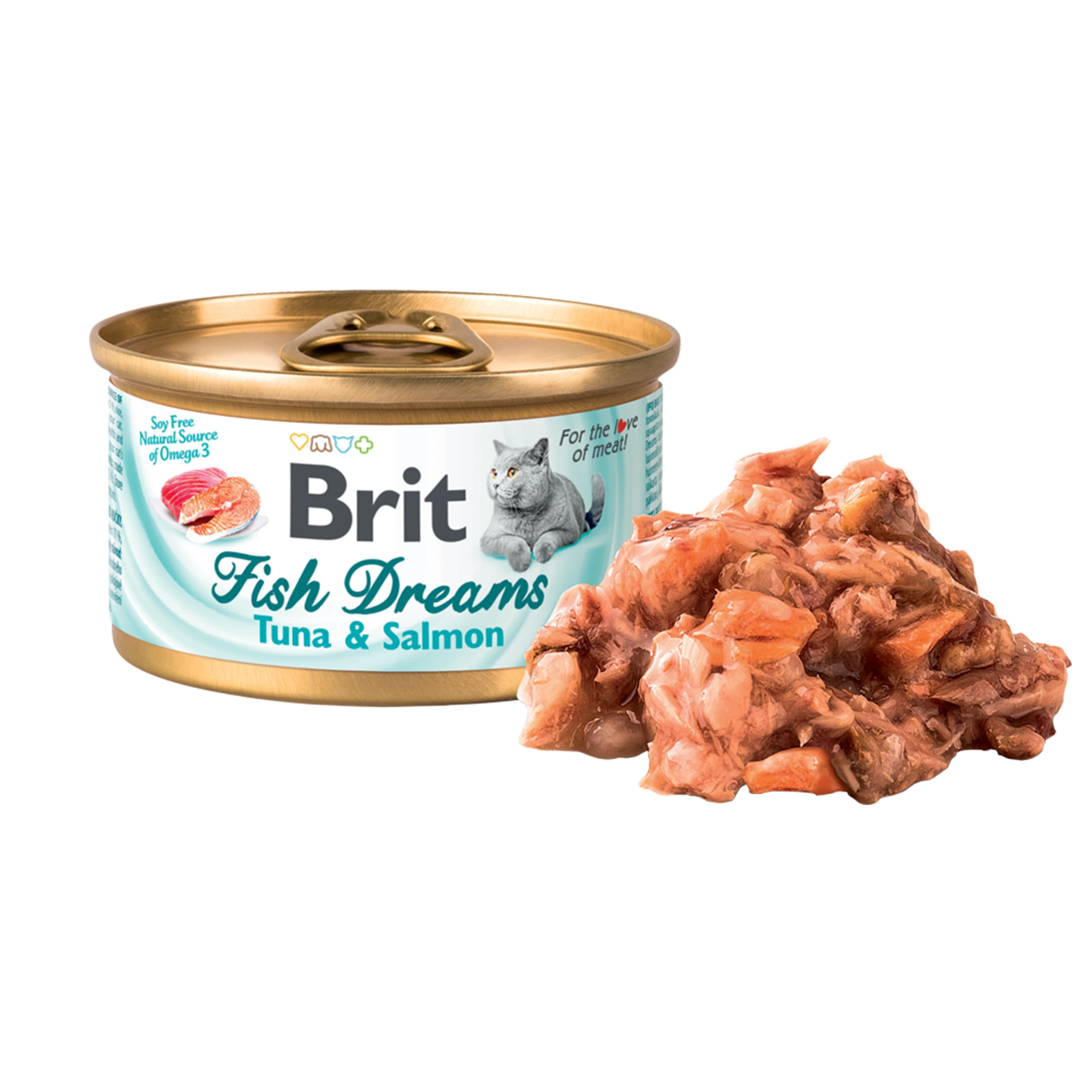 Brit Fish Dreams Tuna and Salmon, 80 g imagine
