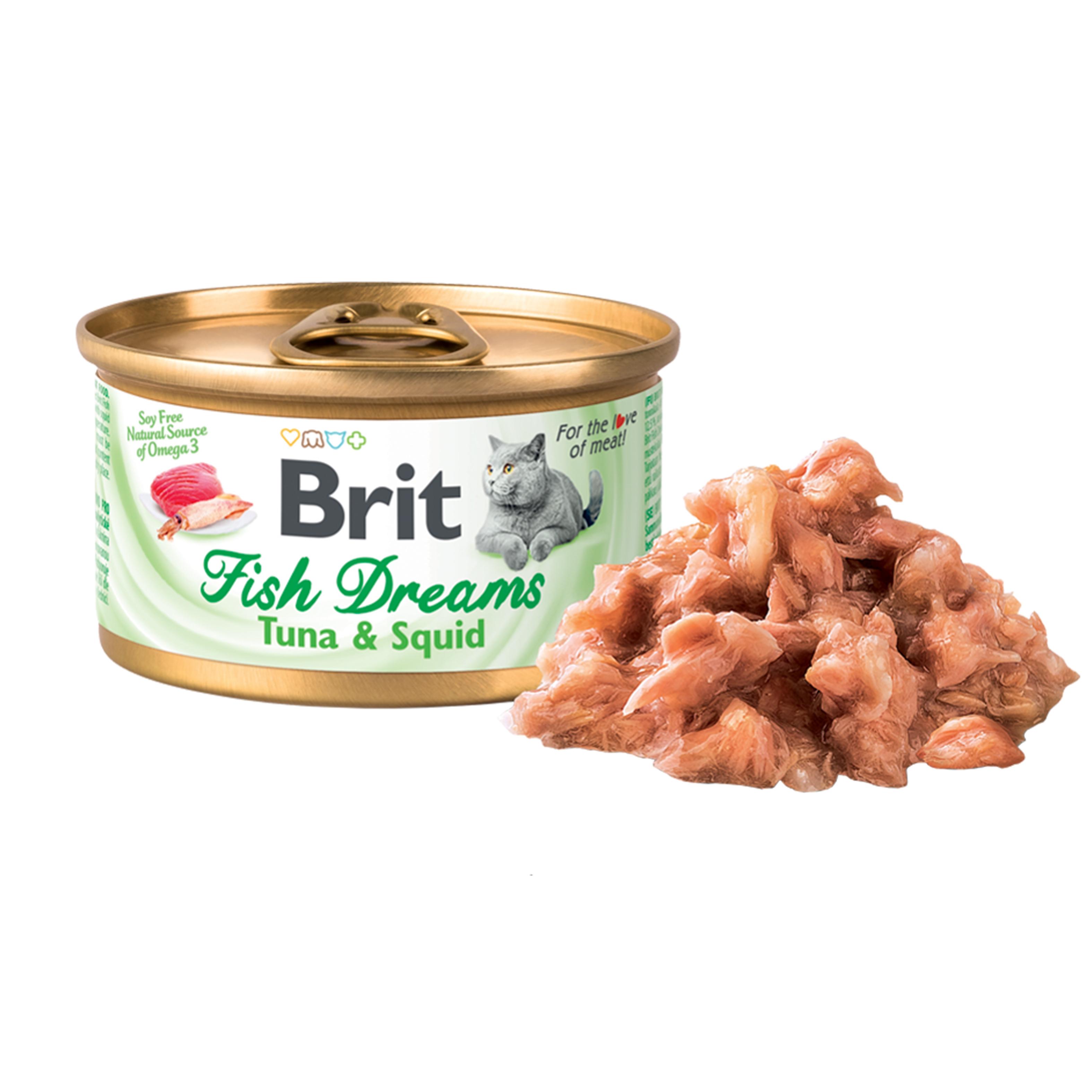 Brit Fish Dreams Tuna and Squid, 80 g imagine