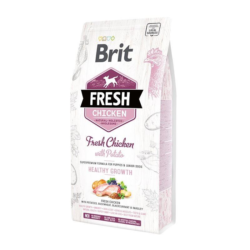 Brit Fresh Chicken and Potato Puppy Healthy Growth, 12 kg imagine