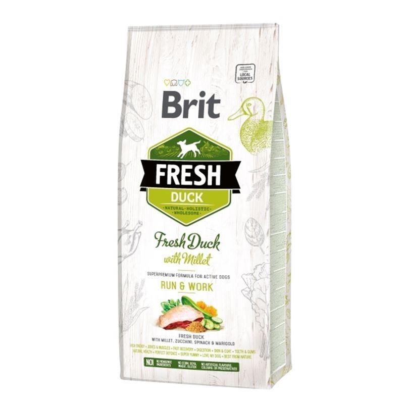 Brit Fresh Duck with Millet Adult Run & Work, 12 kg imagine
