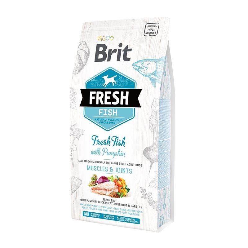 Brit Fresh Fish with Pumpkin Adult Large Muscles & Joints, 2.5 kg imagine