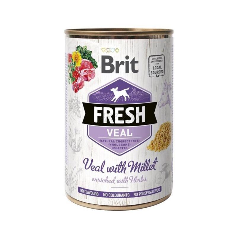 Brit Fresh Veal with Millet, 400 g imagine