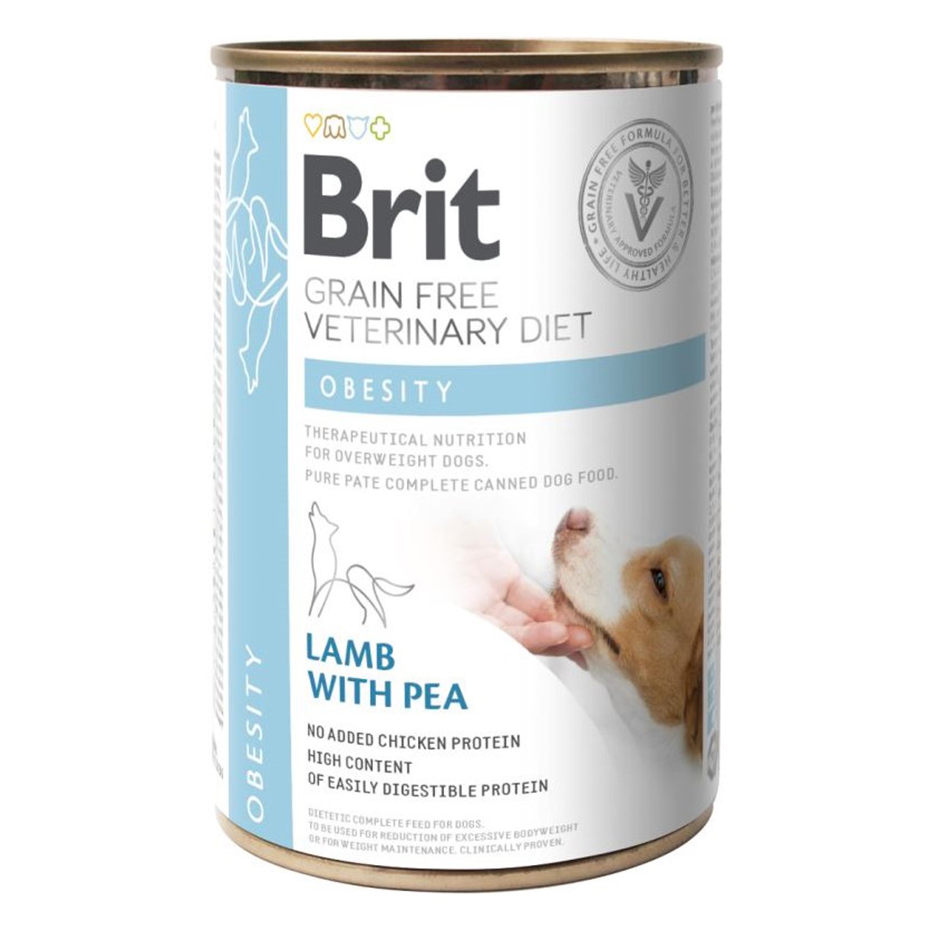 Brit GF Veterinary Diets Dog Obesity, 400 g imagine