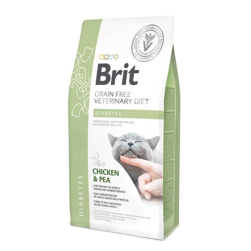 Brit Grain Free Veterinary Diets Cat Diabetes, 400 g imagine