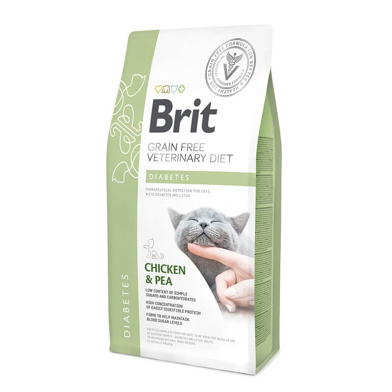Brit Grain Free Veterinary Diets Cat Diabetes, 2 kg imagine