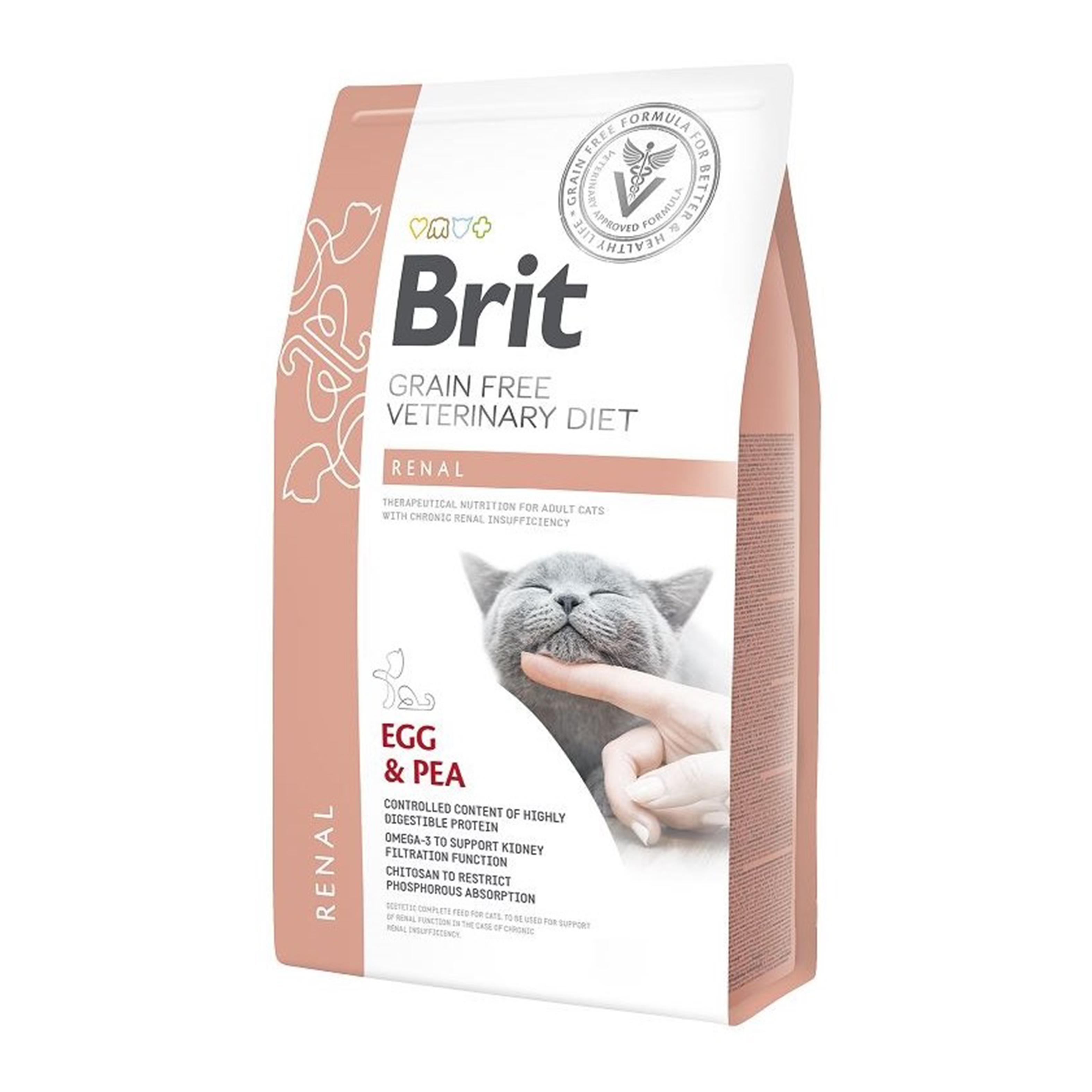 Brit Grain Free Veterinary Diets Cat Renal, 5 kg imagine