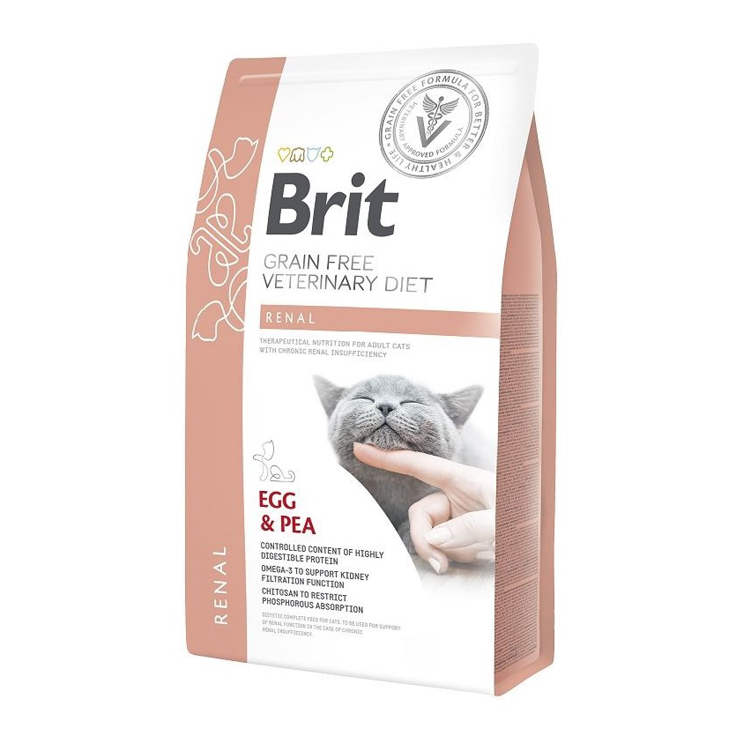 Brit Grain Free Veterinary Diets Cat Renal, 2 kg imagine