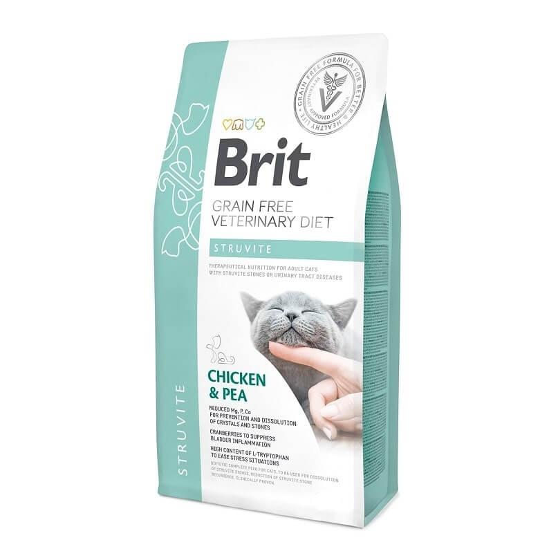 Brit Grain Free Veterinary Diets Cat Struvite, 2 kg imagine