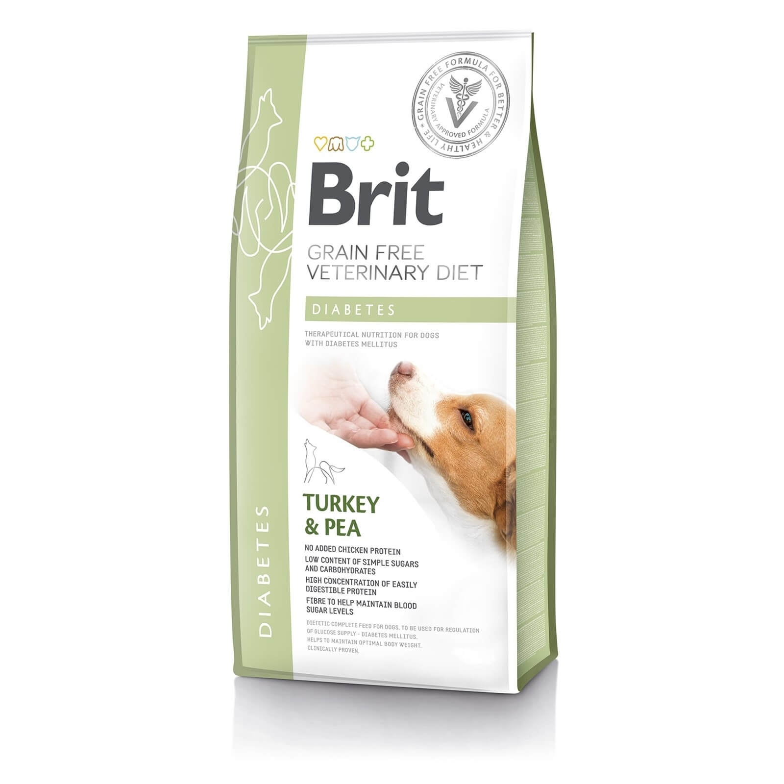 Brit Grain Free Veterinary Diets Dog Diabetes, 2 kg imagine