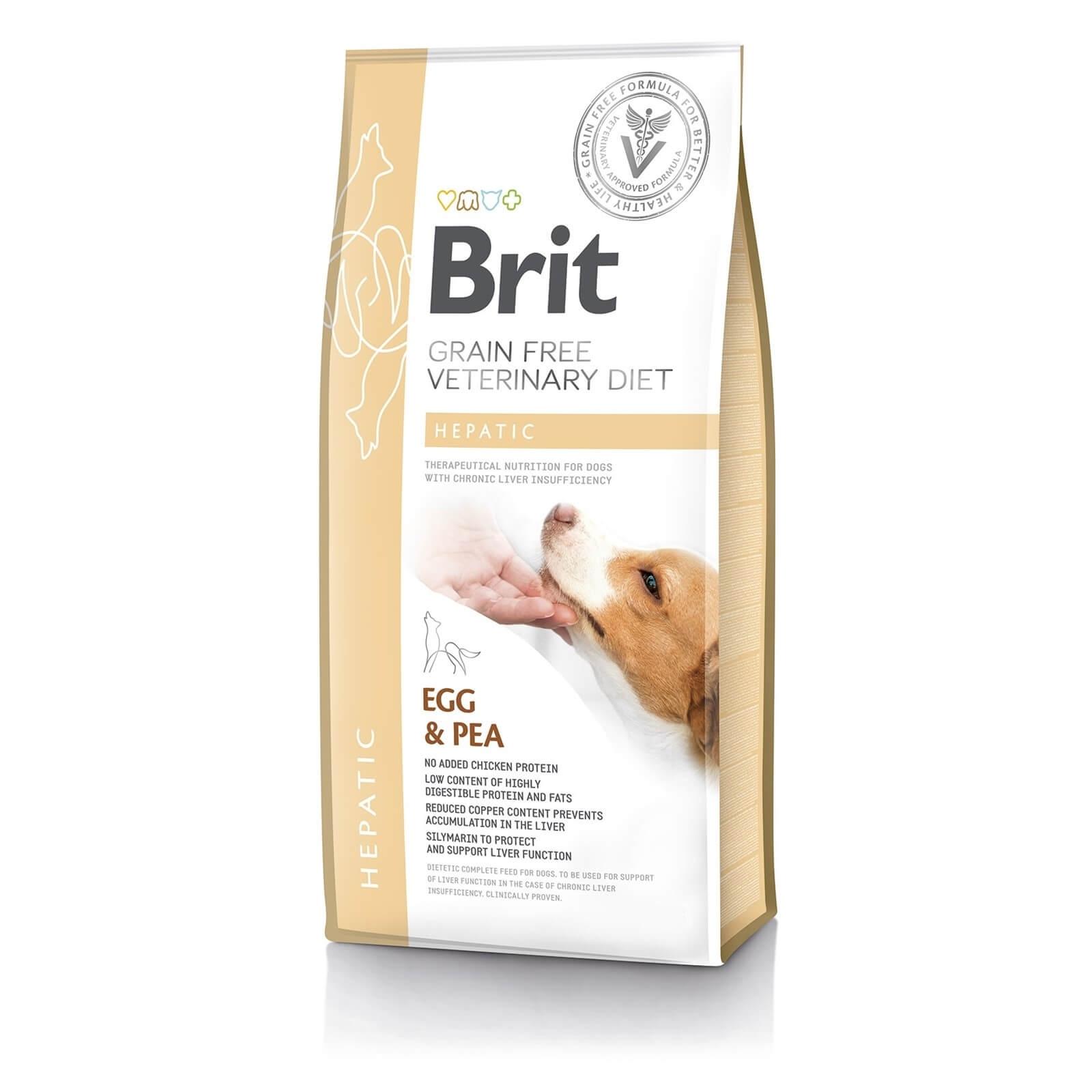 Brit Grain Free Veterinary Diets Dog Hepatic, 2 kg imagine
