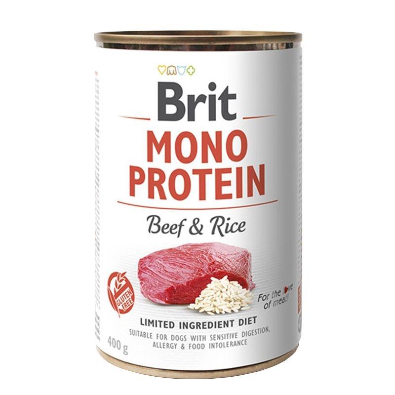Brit Mono Protein Beef & Brown Rice, 400 g imagine