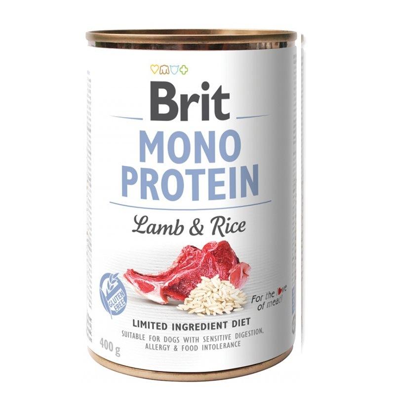 Brit Mono Protein Lamb & Brown Rice, 400 g imagine