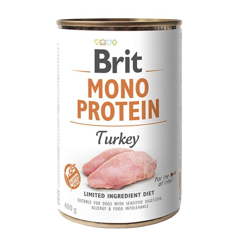 Brit Mono Protein Turkey & Sweet Potato, 400 g imagine