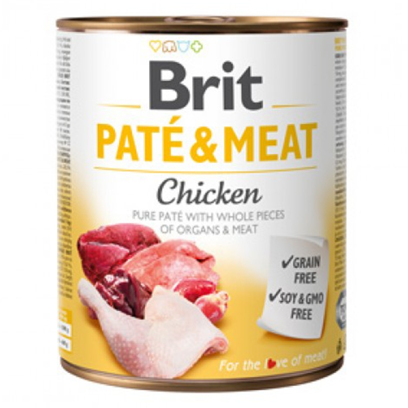Brit Pate and Meat Chicken, 800 g imagine