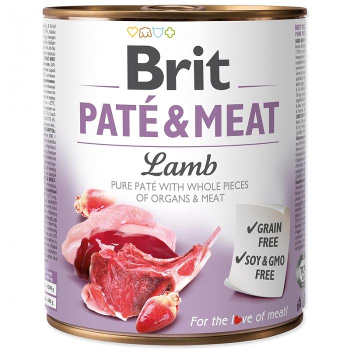 Brit Pate and Meat Lamb, 800 g imagine